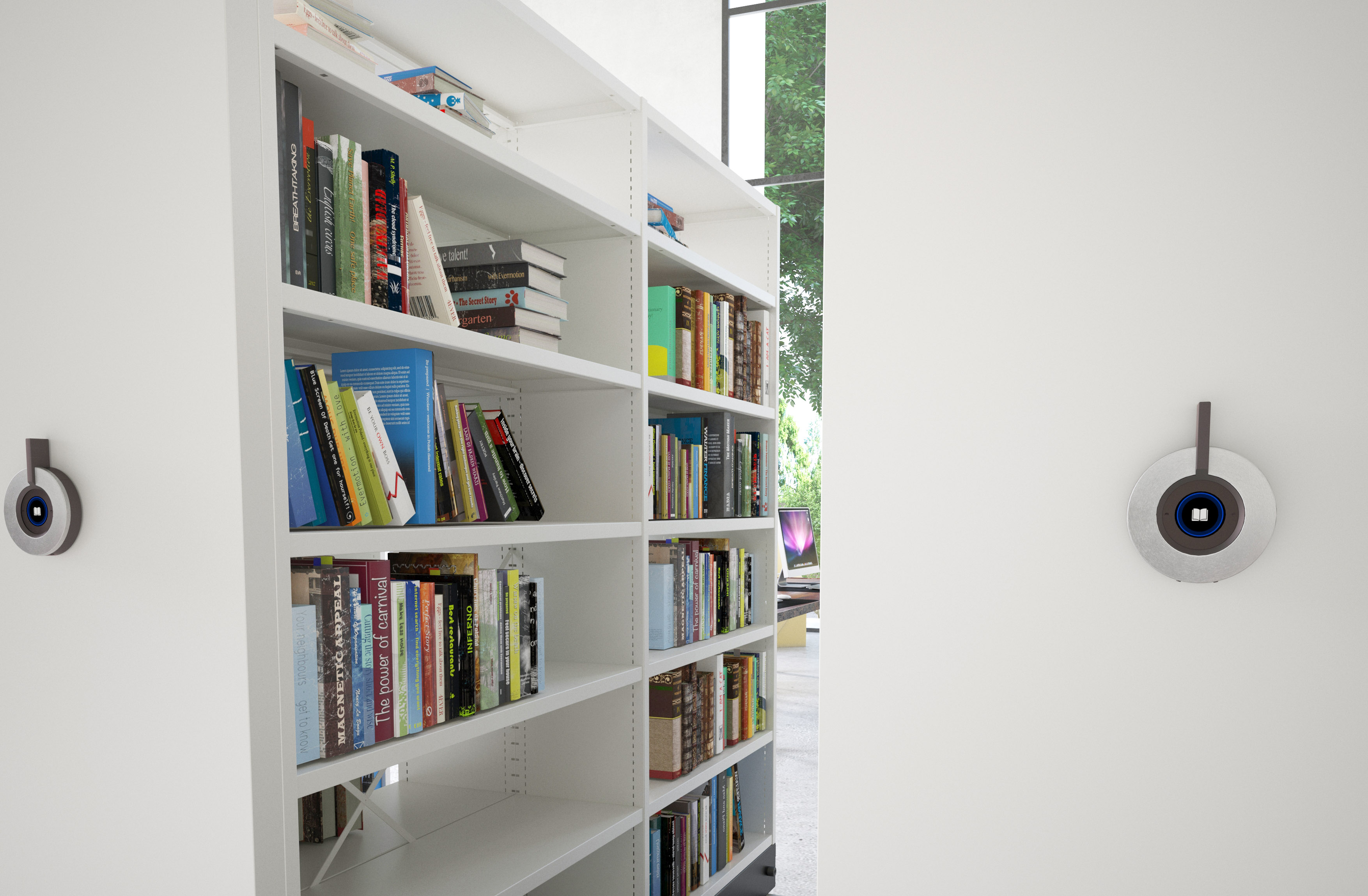 Library_mobile shelving_light